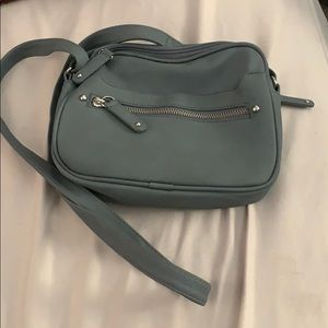Charcoal grey blueish small purse